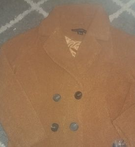 New French Connection Faux Fur Short Teddy Peacoat